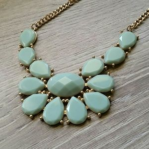 Vintage Costume Jewelery Statement Necklace Light